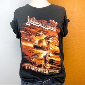 118beb3957efc5 Tops - Judas Priest Firepower Tour Band Concert Tee